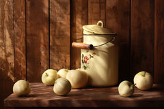 Apples. Still life with apples under sunlight from the window Stock Photography