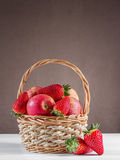 apples and strawberries Royalty Free Stock Image