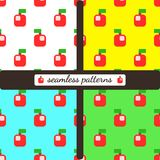 Apples. Stylized and bright. royalty free stock images