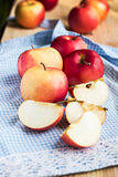 Apples on the table. Apples on a wooden table Royalty Free Stock Images