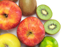 Apples, tangerines and kiwis Royalty Free Stock Images