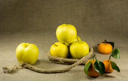 Apples and tangerines Royalty Free Stock Photography