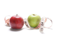 Apples and Tape Measure Royalty Free Stock Image