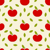 Apples texture. Apples seamless pattern. Vector illustration Stock Image
