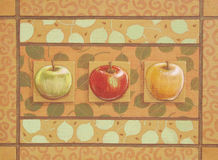 Apples Three Royalty Free Stock Photo