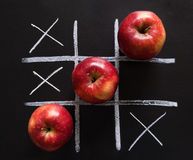 Apples tic-tac-toe Stock Photo