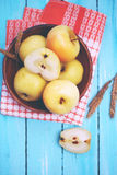 Apples  tinted, top view Royalty Free Stock Photo