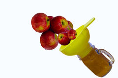 From Apples To Sauce. Conceptual idea for making homemade applesauce Royalty Free Stock Photography
