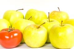 Apples and tomato Stock Photo