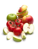 Apples and tomatoes Royalty Free Stock Photo
