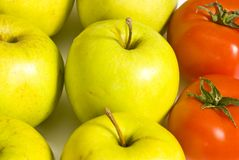 Apples and tomatoes Royalty Free Stock Images