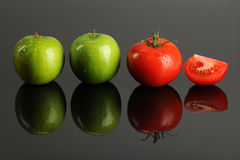 Apples and Tomatoes Stock Image