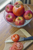 Apples and Tomatoes Stock Photo