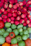 Apples and tomatoes. Healthy food from the garden Royalty Free Stock Photography