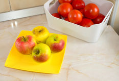 Apples and tomatoes Royalty Free Stock Photos