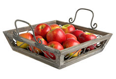 Apples on a tray Royalty Free Stock Photo