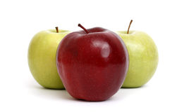Apples Trio Royalty Free Stock Photos