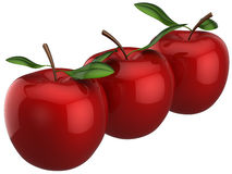 Apples twins (Hi-Res) Royalty Free Stock Photos