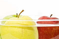 Apples in the water Royalty Free Stock Photos