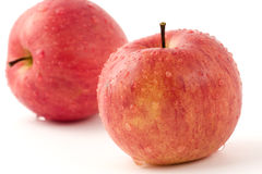 Apples with water droplets Stock Images