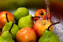 Apples in water Royalty Free Stock Photography