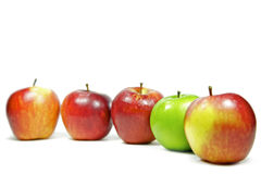 Apples on white background Royalty Free Stock Photography