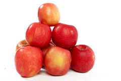 Apples on White Background. Pile of Fresh Apples on White Isolated Background Royalty Free Stock Photography