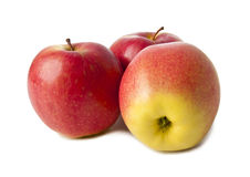 Apples on a white background. Delicious fresh apples on a white background Stock Image