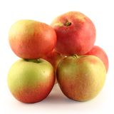 Apples  on a white background. Royalty Free Stock Photos