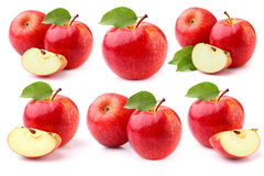 Apples on a white Royalty Free Stock Photos