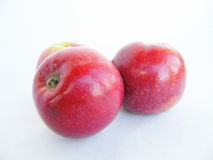 Apples on a white background. Tasty red apples isolated on white background stock images