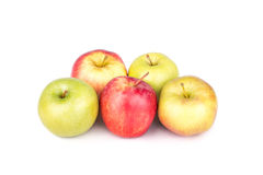 Apples. On white background Royalty Free Stock Photography