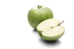 Apples on white background - close-up Stock Images
