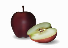 Apples on a white background. Vector illustration. Apples isolated on a white background. Vector illustration. EPS10 Stock Photography