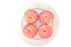 Apples. The apples on white dish Stock Photography