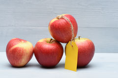Free Apples With Yellow Tag Royalty Free Stock Photography - 81089097