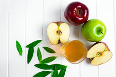 Apples on a wooden background Royalty Free Stock Images