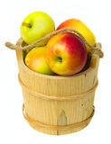 Apples in a wooden basket Royalty Free Stock Photos
