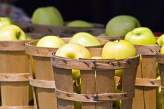 Apples in Wooden Baskets Royalty Free Stock Photography