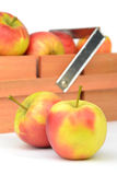 Apples and Wooden Crate Royalty Free Stock Photo