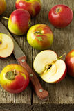 Apples on a wooden table Stock Image