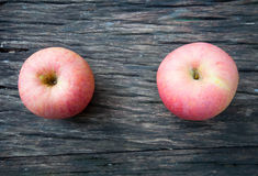 Apples on Wooden Tabletop Royalty Free Stock Photo