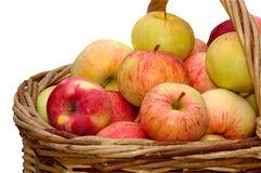 Apples in woven basket Royalty Free Stock Photography