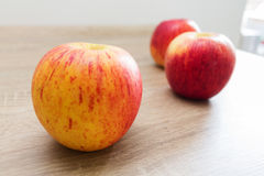 Apples yellow red food. Eating royalty free stock photography
