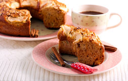 Applesauce κέικ καφέ Στοκ φωτογραφία με δικαίωμα ελεύθερης χρήσης