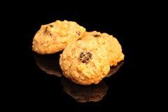 Applesauce μπισκότα ξύλων καρυδιάς σταφίδων Στοκ εικόνα με δικαίωμα ελεύθερης χρήσης