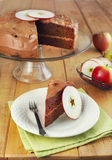 Applesauce σοκολάτας κέικ στρώματος Στοκ Εικόνα