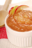 Applesauce with apple garnish Royalty Free Stock Photo