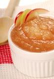 Applesauce with apple garnish. Delicious fresh homemade applesauce with apple garnish Royalty Free Stock Photo