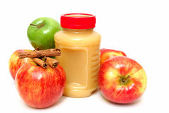 Applesauce And Apples Stock Photo
